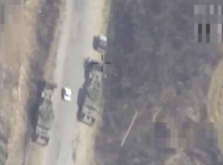 Qarabağda erməni tankları minaya düşdü - VİDEO